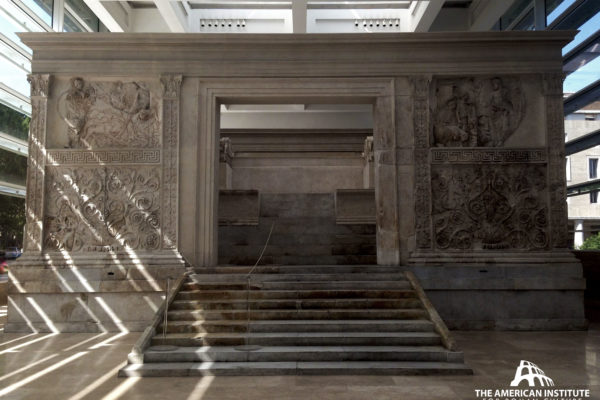 Ara Pacis Augustae (Rome), front by Warren George, 2018